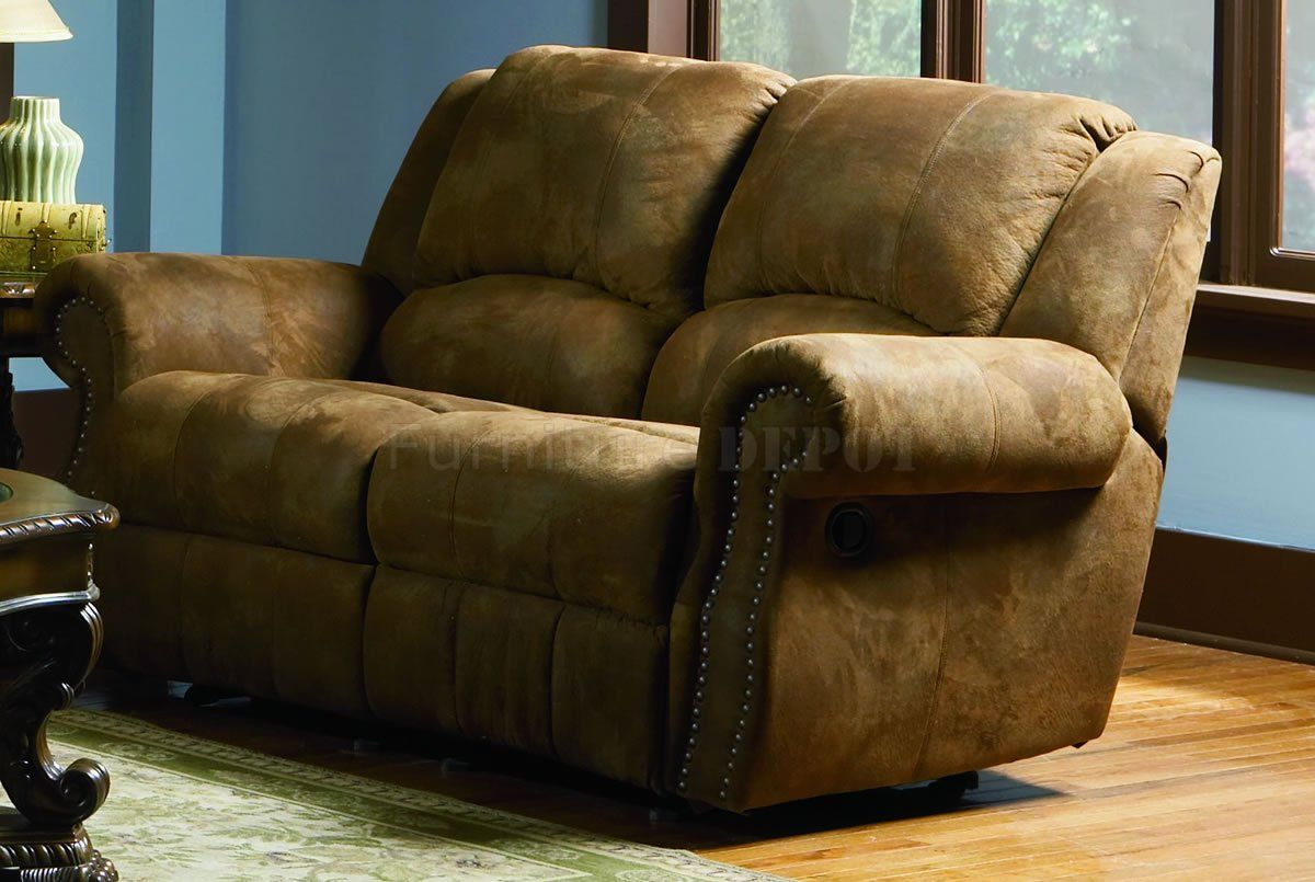 Distressed Leather Couches And Loveseats Brown Specially Treated Microfiber Sofa With Recliners