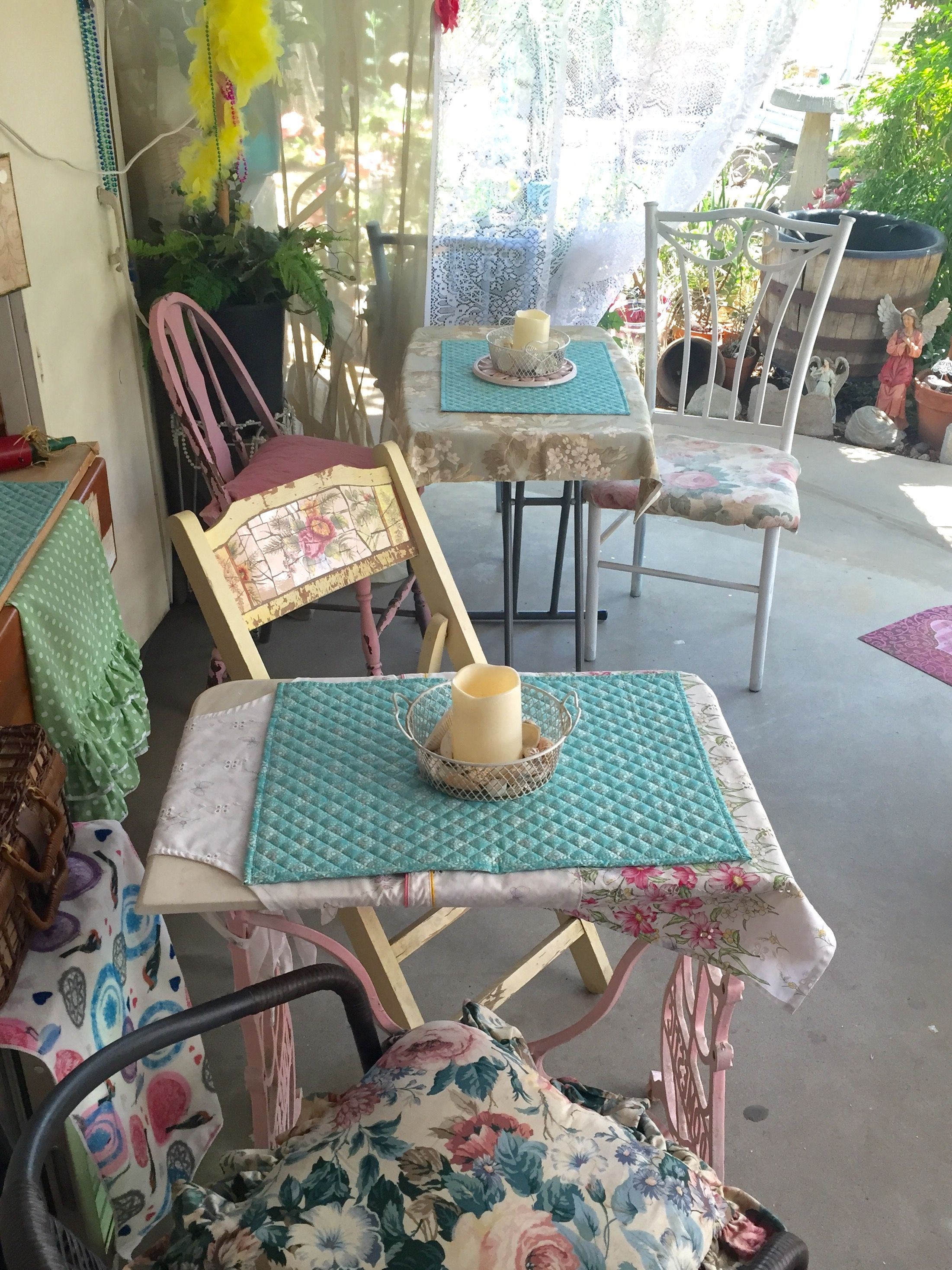 Balkonmöbel Bunt Pin By Laurie Garrison On Rustic Girly Patio Spot Patio Porch Shabby