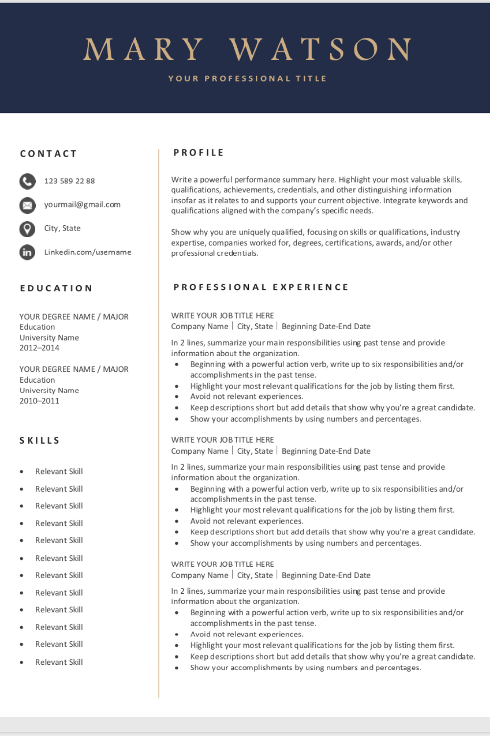 Are You Looking For A Free Simple Resume Template Sign Up For Our Job Search Tips And Downlo Resume Template Job Resume Template Resume Template Professional
