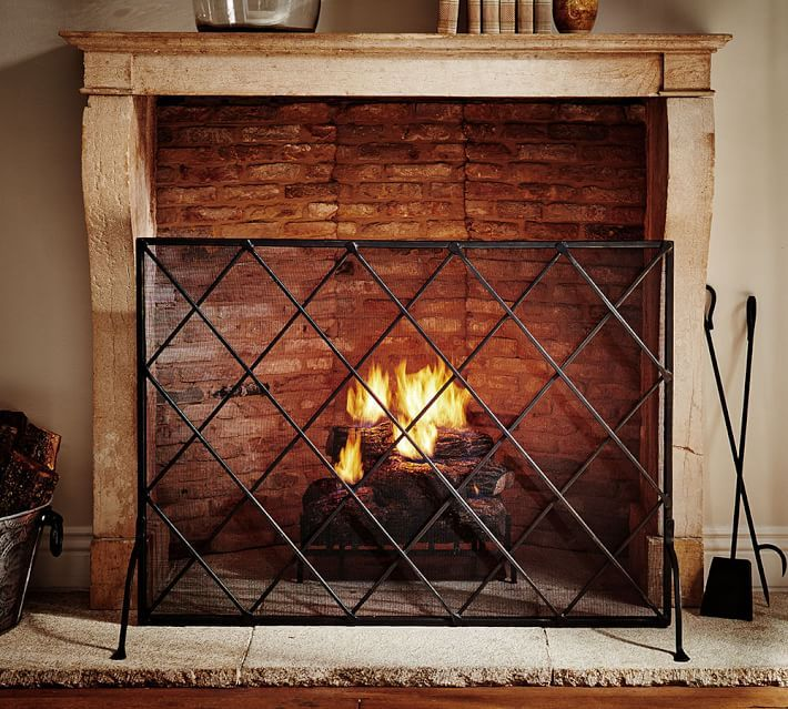 Каминный экран камин с огнем фото