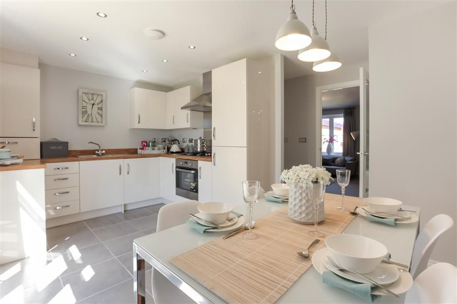 New Homes In Middlesbrough Open Plan Kitchen Living Room
