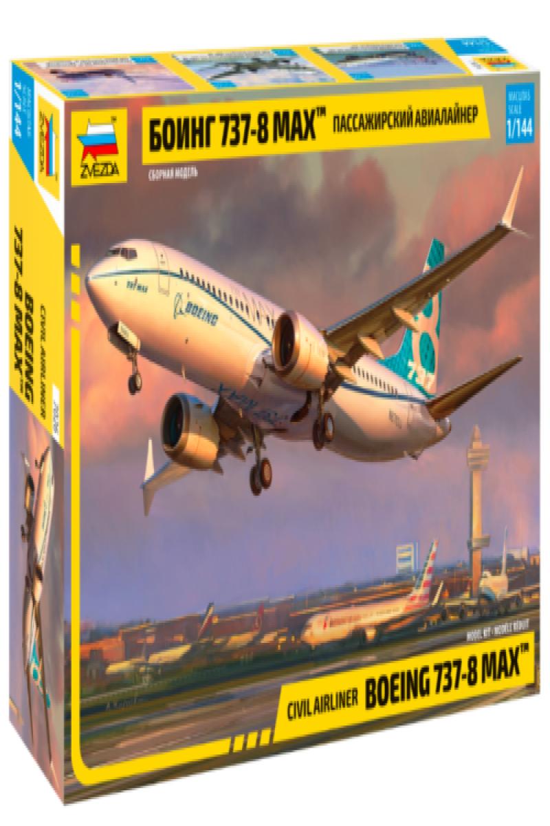 BOEING 737-8 MAX CIVIL AIRLINER Model Kit scale 1//144 ZVEZDA 7026