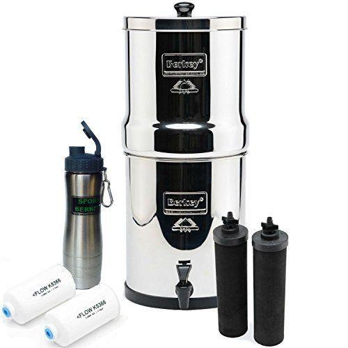 premium berkey rb4x2-bb royal stainless steel water filtration ...
