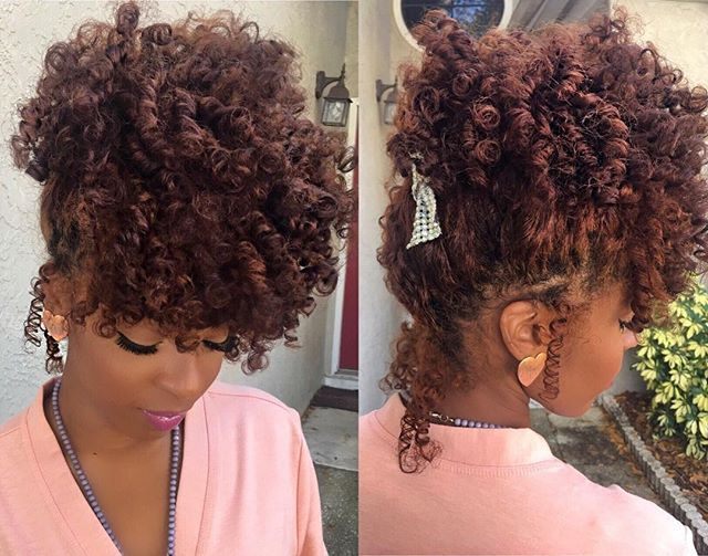 Flexi Rods On Natural Hair Natural Hair Protective Styles
