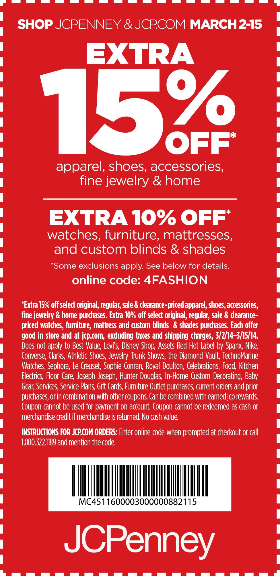 Jcpenney 15 Off Printable Coupon Coupon Jcpenney Coupons