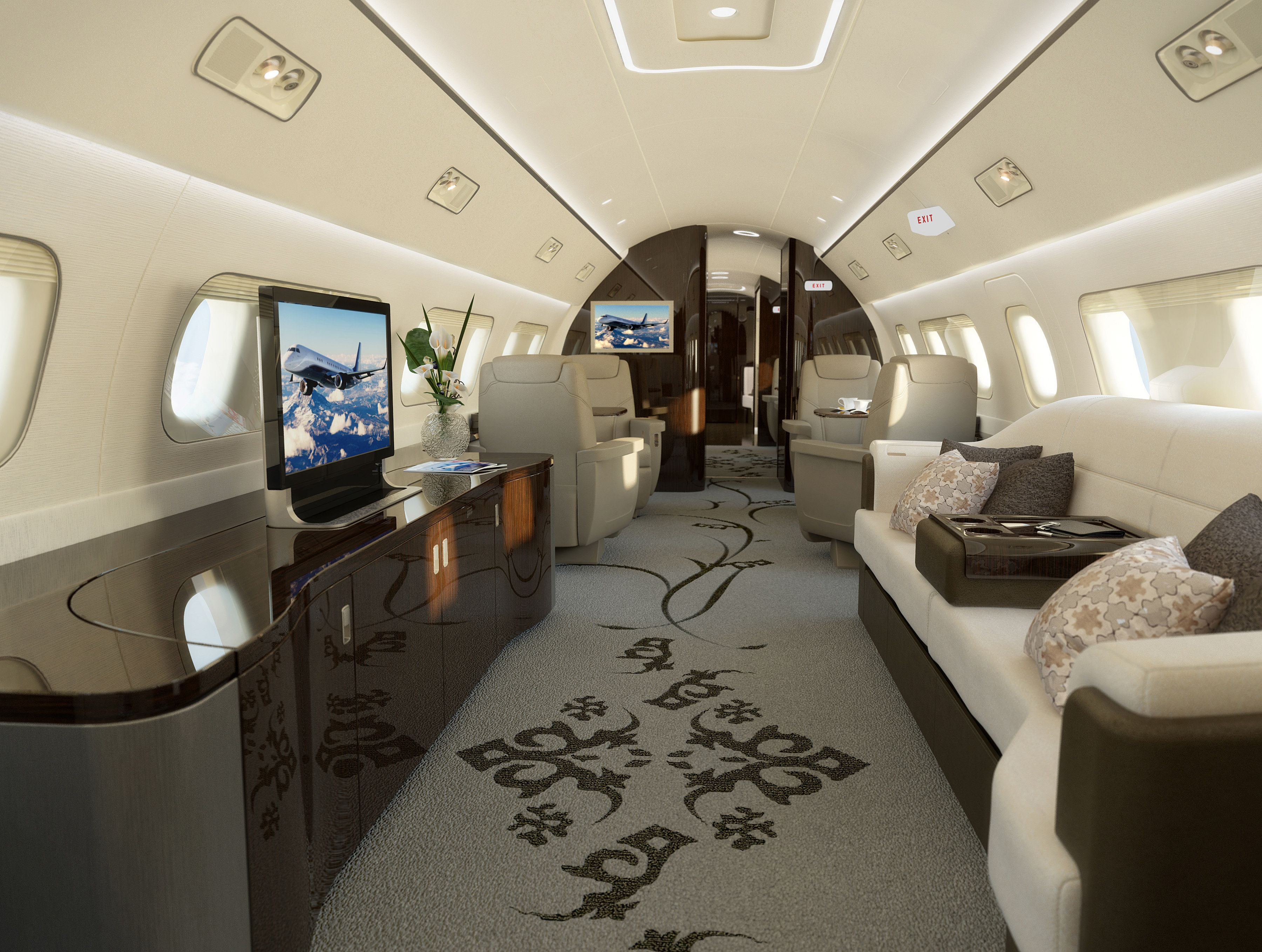 Ever Wonder What Goes Inside A 53 Million Private Jet Private Jet Interior Private Jet Luxury Jets
