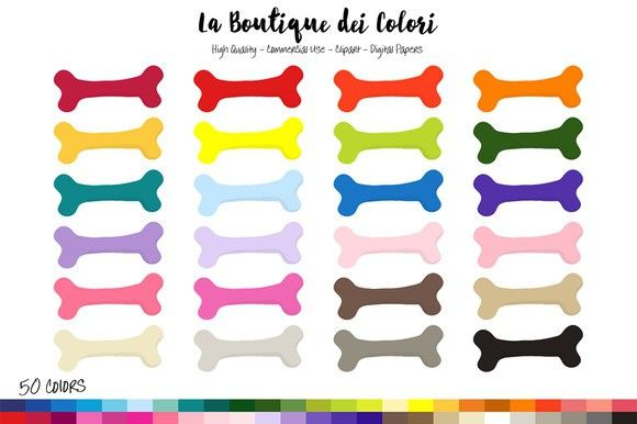 50 Rainbow Dog Bone Clipart Clip Art Rainbow Dog Toy Puppies