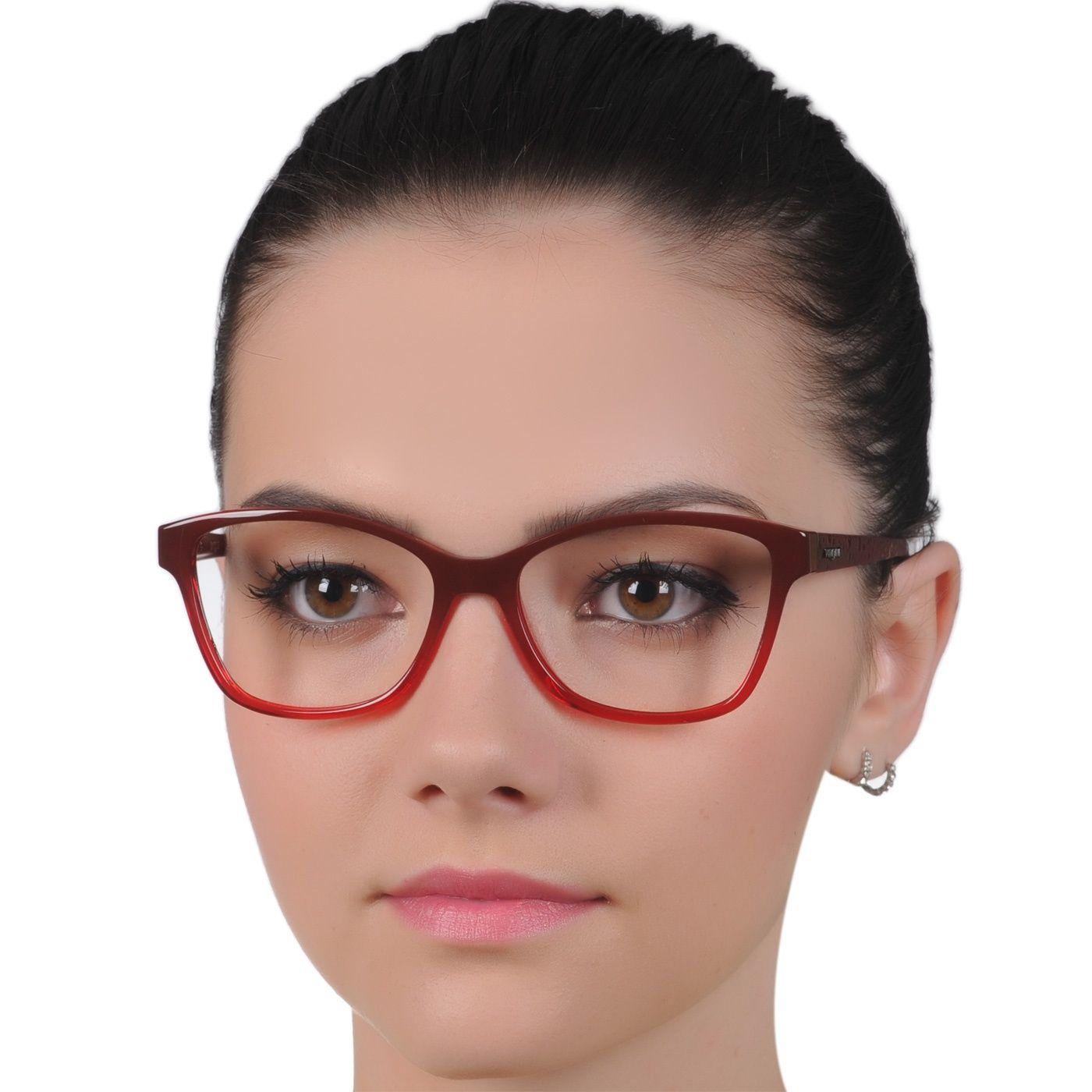 Oculos De Grau Vogue Vo2998 Feminino Vermelho Medio Com Imagens
