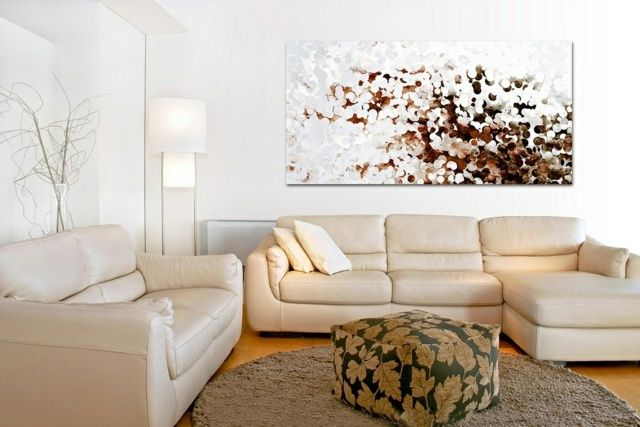 Wohnzimmer modernes Gemälde Wanddeko Ideen art Pinterest - wohnzimmer ideen petrol