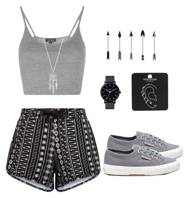 """""""Untitled #278"""" by museavenue on Polyvore featuring Superga, New Look, Topshop, The Horse and Lucky Brand"""