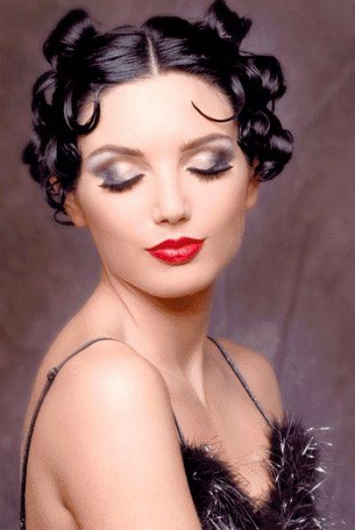Retro Betty Boop Inspired Hairstyle