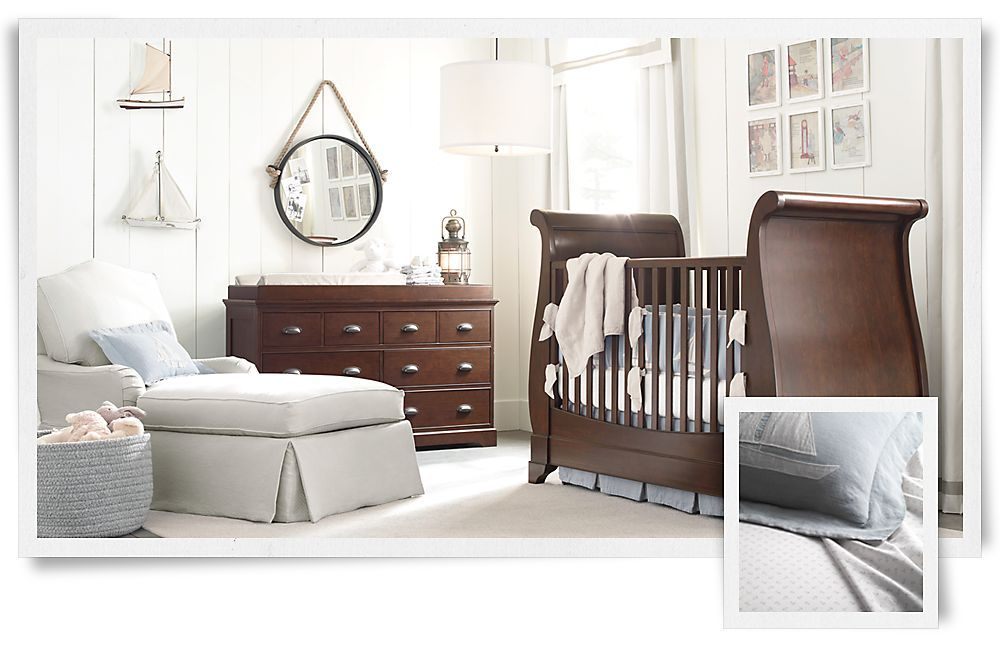 Rooms Restoration Hardware Baby Child Bebe Love Nursery Neutral Nautical