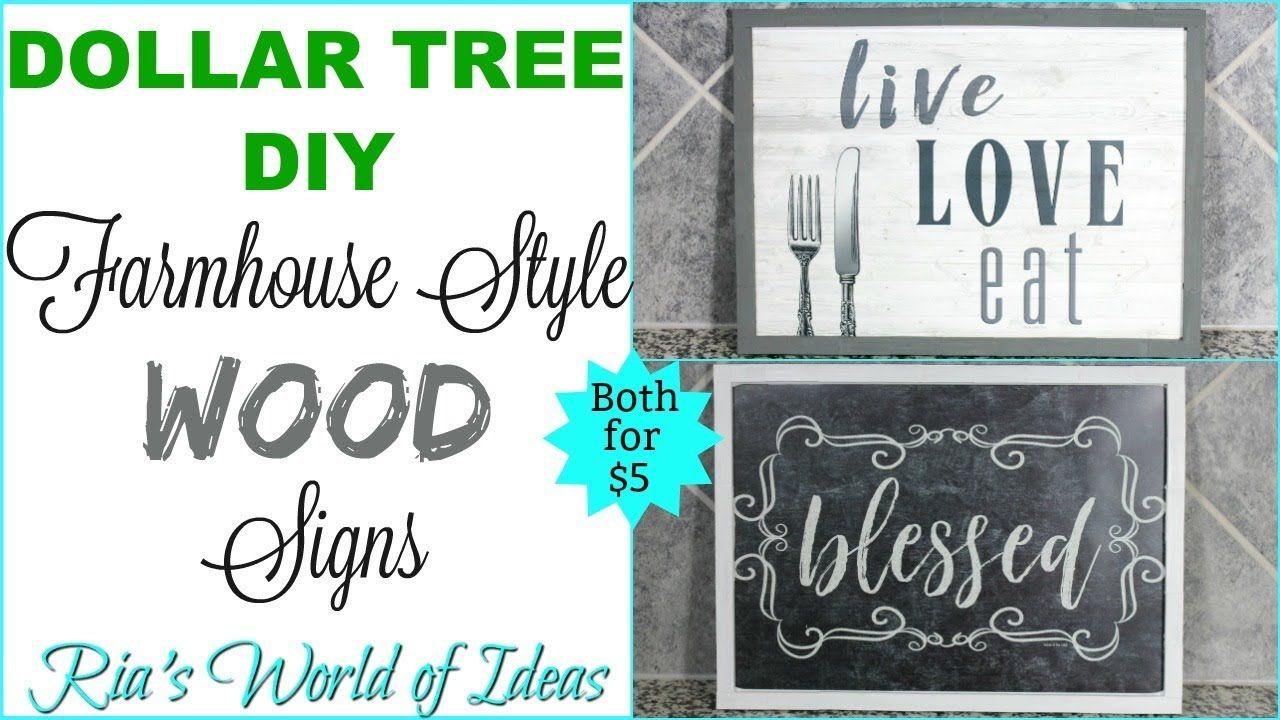 Dollar tree diy farmhouse style wood signs 5 dollar