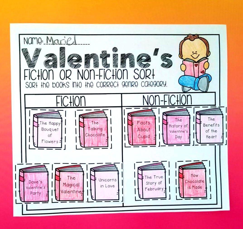 Free Valentines Worksheet Valentine Worksheets Nonfiction Valentines Printables Free