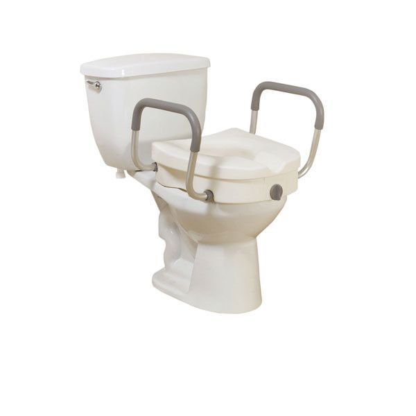 Raised Toilet Seat With Removable Padded Arms Toilet Seat