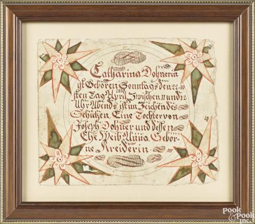 the ruth bryson collection, quarryville, pa...penna. fraktur birth ...