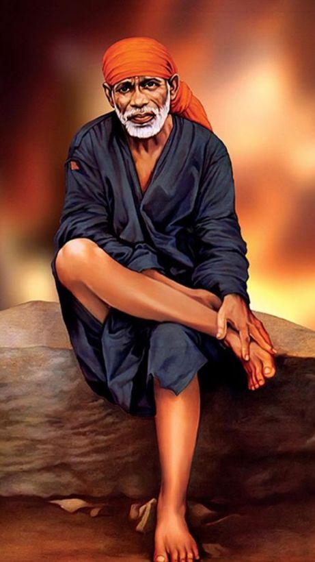 Pin By Poonam Wadera On Photoes Sai Baba Baba Image Sai Baba Hd Wallpaper