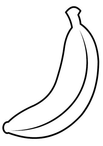 Banana Coloring Page Fruit Coloring Pages Vegetable Coloring Pages Banana Crafts