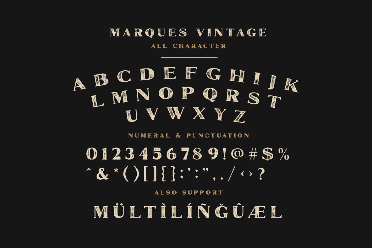 Marques Vintage In 2020 Vintage Fonts App Design Inspiration Font Family