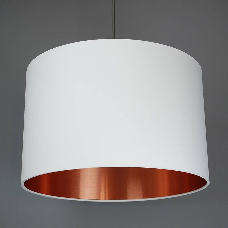 Brushed Copper Lined Lamp Shade 40 Colours