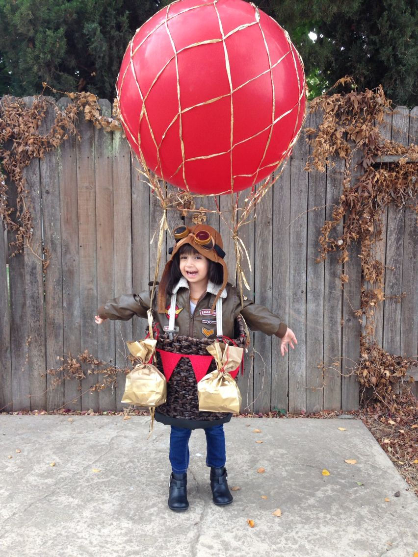 Up up and away! Halloween costume hotairballoon