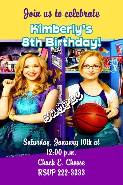 Liv and Maddie Birthday Invitations - Digital Download - Get these - create invitations online free no download