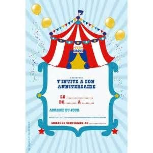 Pin Thème Cirque Invitation Anniversaire Le Blog De on Pinterest (avec images) | Invitation ...
