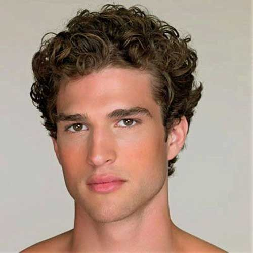 hairstyles men with thick curly