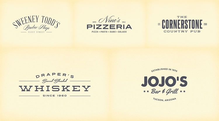 15 free vintage logo template collections logo templates 15 free retro vintage logo template collections pronofoot35fo Image collections