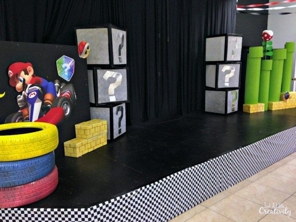 The Ultimate Pinterest Party, Week 115 DIY Mario Kart stage design for kids