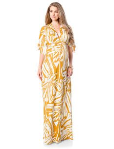 Rachel Pally Elbow Sleeve Caftan Maternity Maxi Dress | Mommy ...