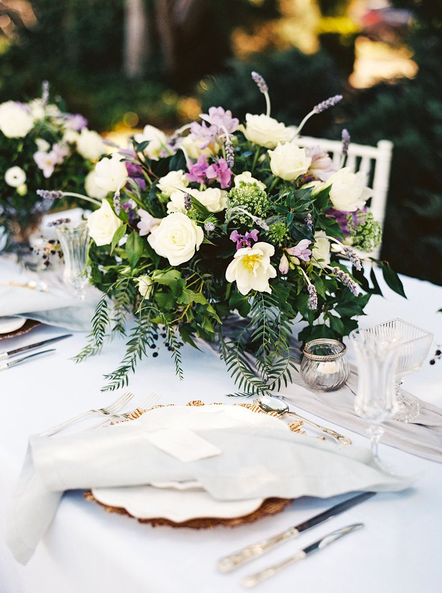 vintage garden wedding with winter flowers