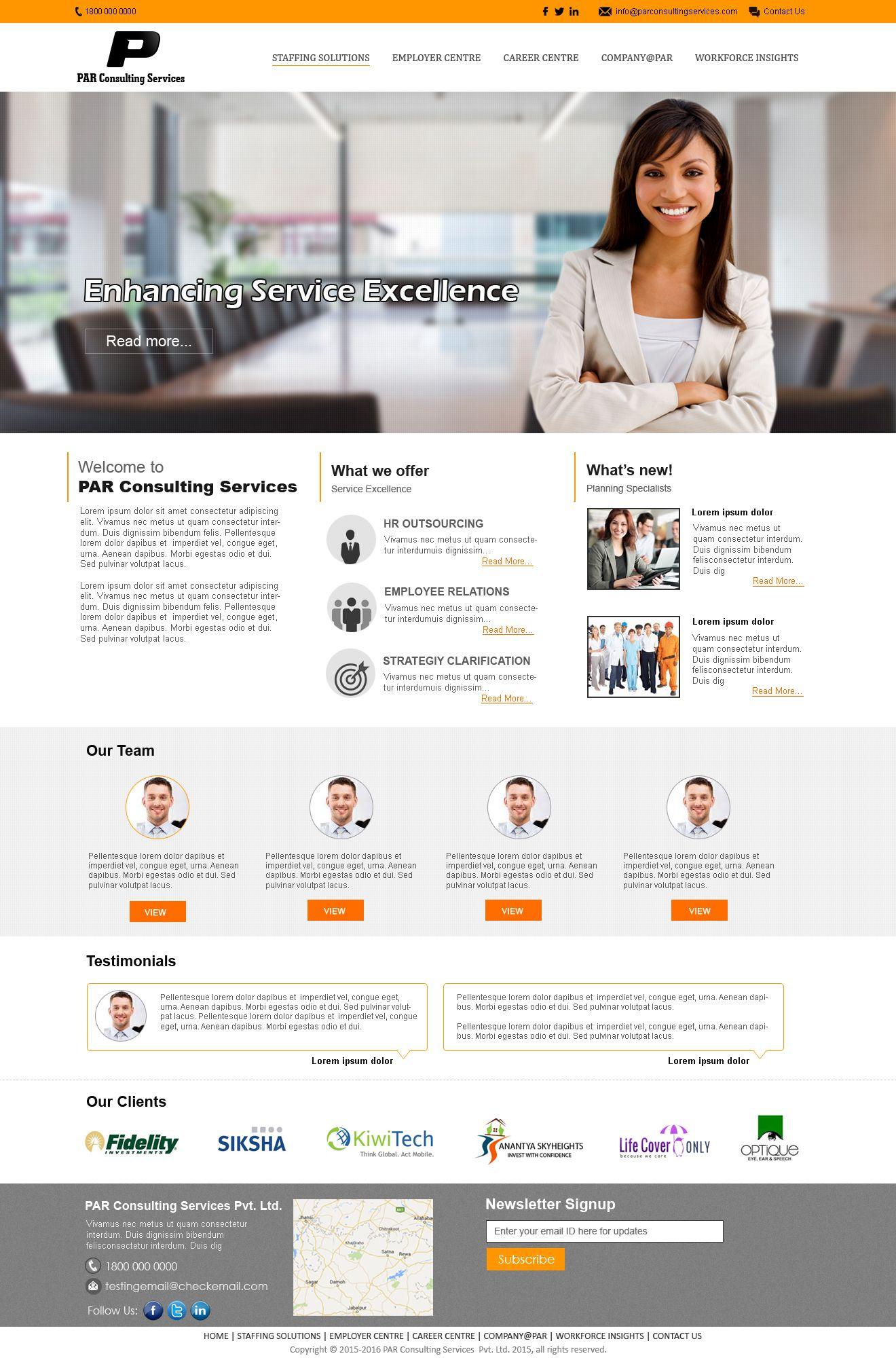 Design for Par Consultancy provide 2 mockups Website