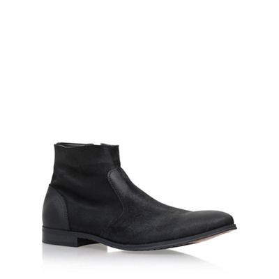 KG Kurt Geiger Black 'Reece' flat chelsea boots | Debenhams