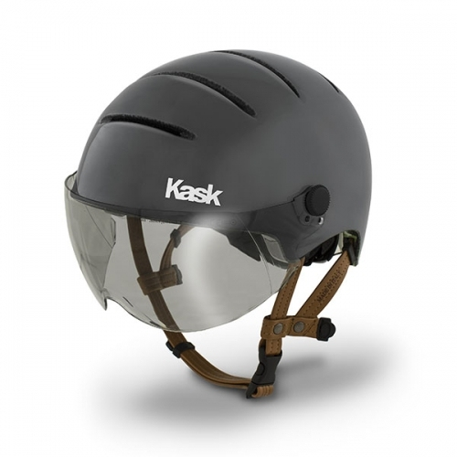 Urban Cycling Helmet With Leather Straps And Visor Lifestyle Kask Sport Bicycle Helmet Urban Bike Bike Helmet