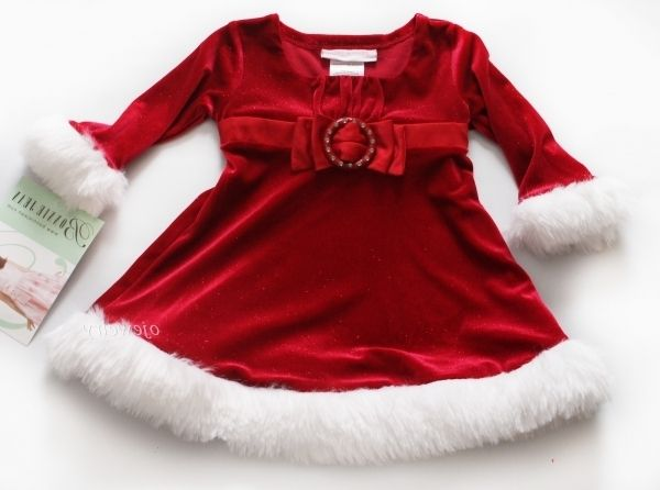 best red baby christmas dress