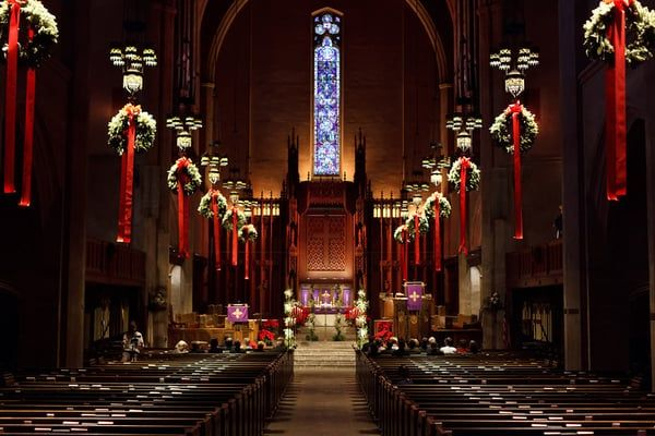 30 Church Christmas Decorations Ideas And Images Christmas Celebration All About Christmas Church Christmas Decorations Christmas Church Church Decor