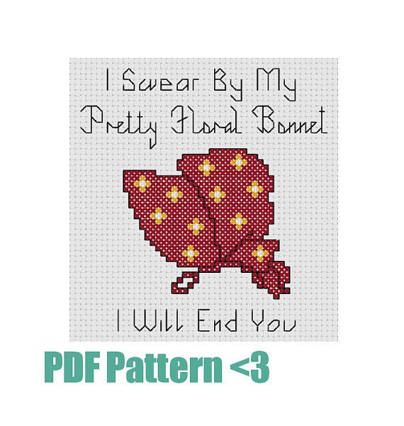 Cross Stitch Pattern Firefly Inspired I Swear by nerdstitchshop ...