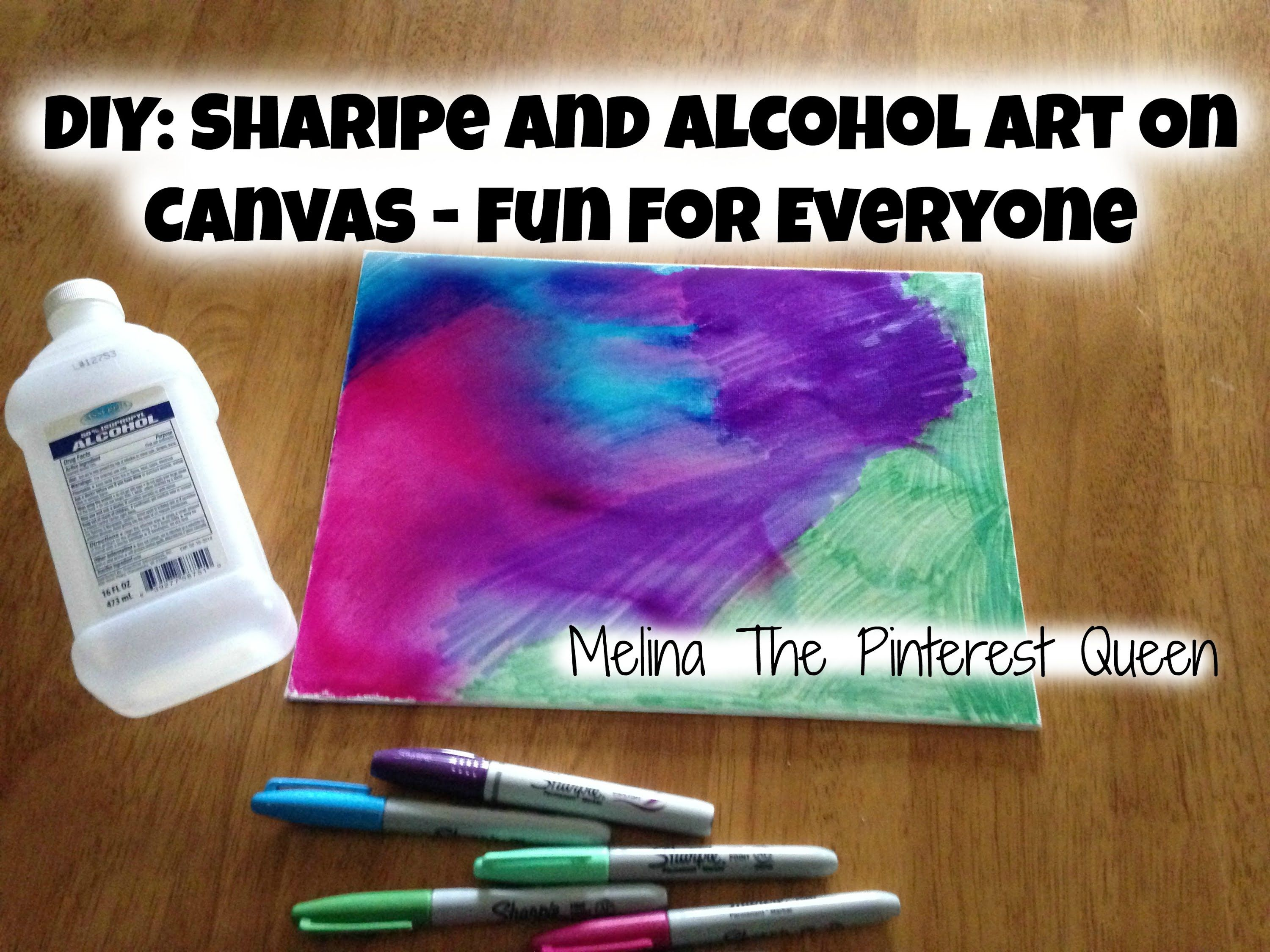 DIY: Sharpie And Alcohol Art On Canvas - Fun For Everyone ...