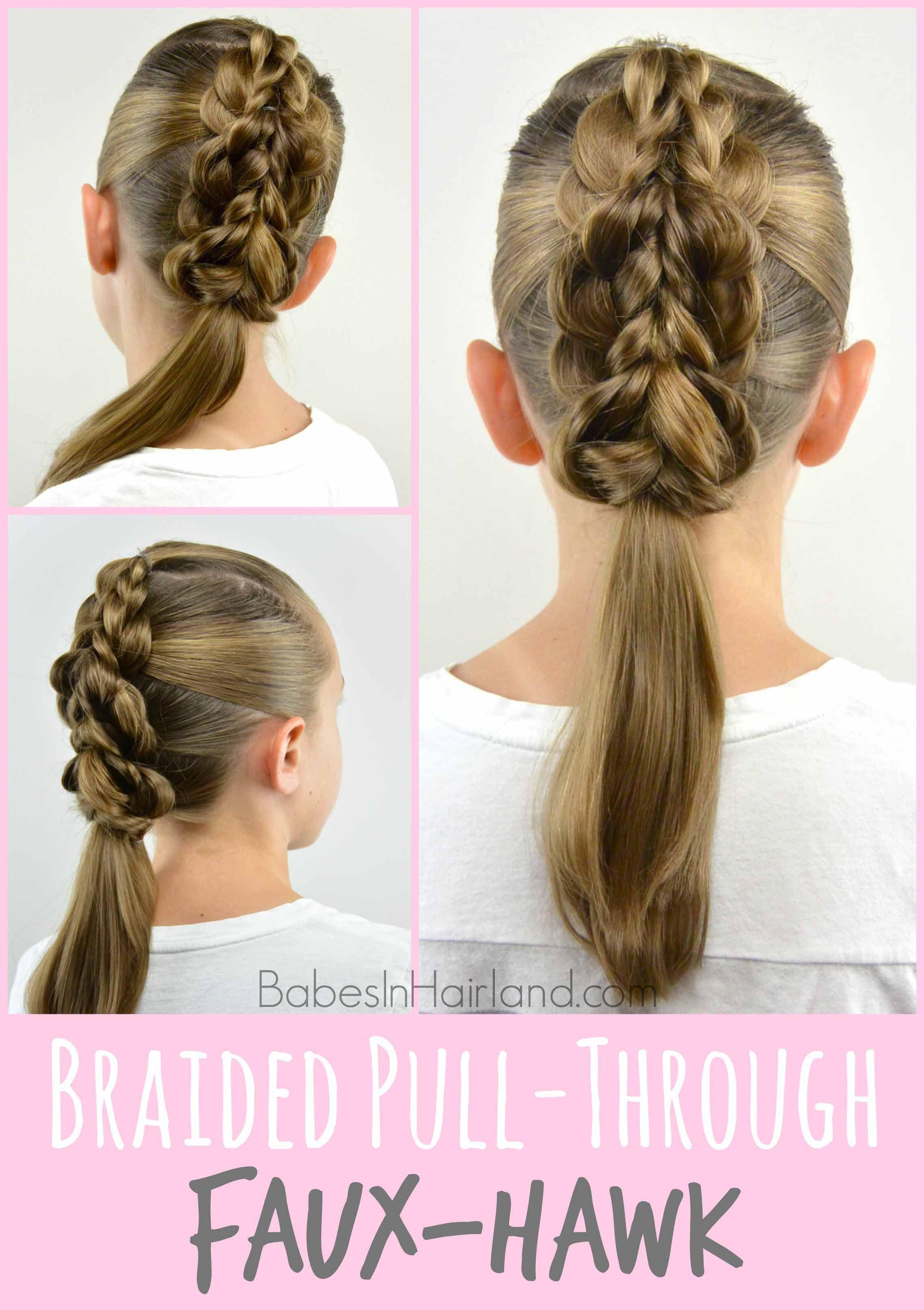 Braided pullthrough fauxhawk babes in hairland tutorials