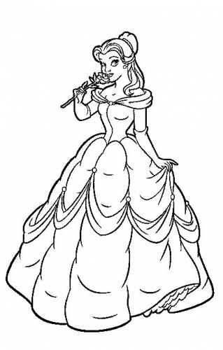 Disney Belle Coloring Pages Belle Coloring Pages Princess Coloring Pages Disney Coloring Pages
