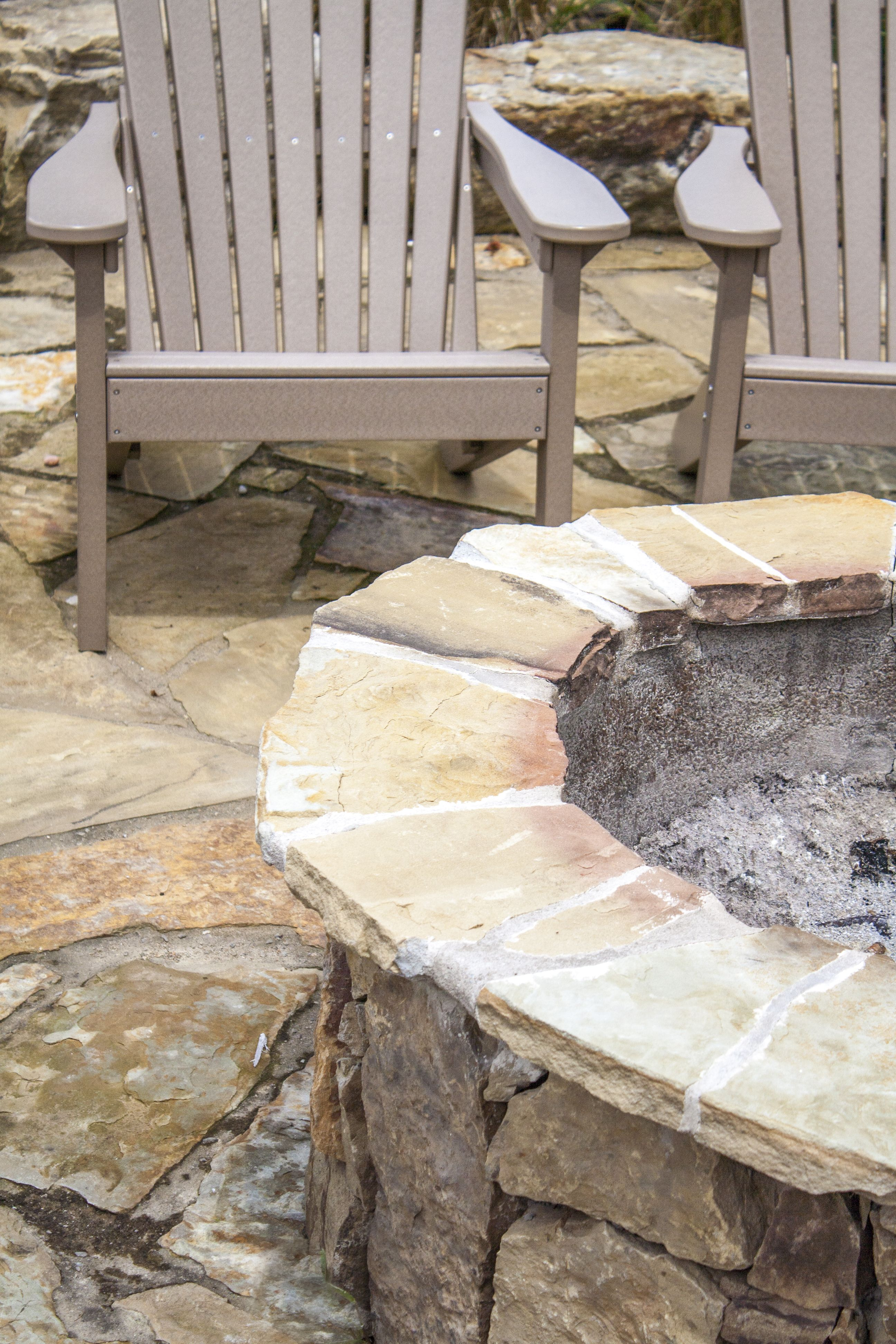 Outdoor living natural stone patio and fire pit natural stone