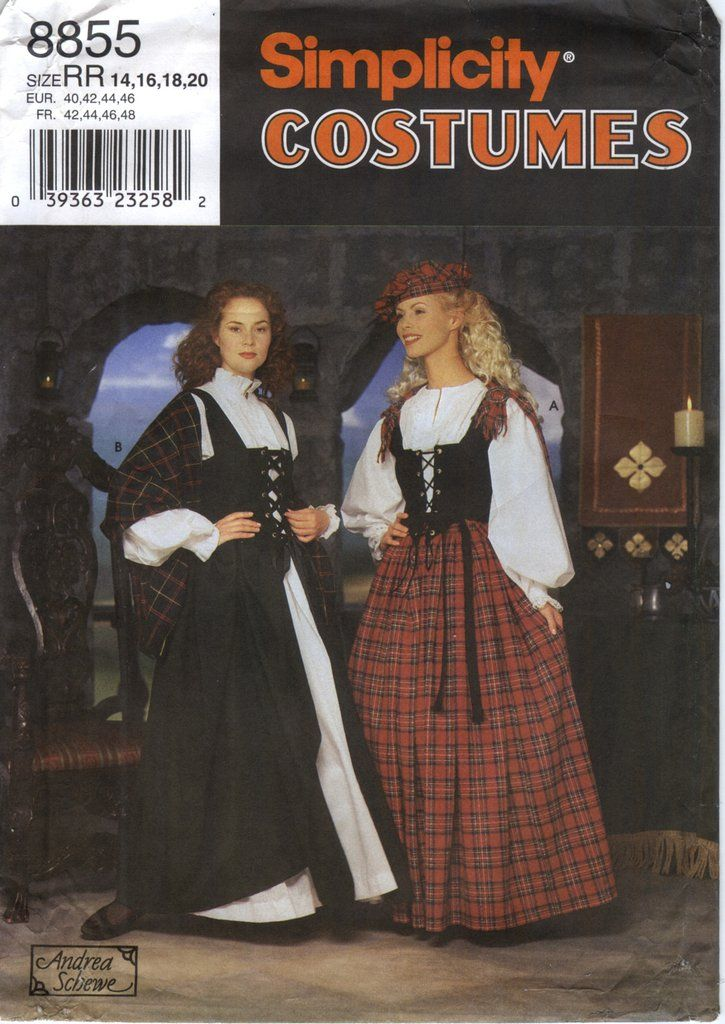 Simplicity 8855 Misses\' Costume and Hat