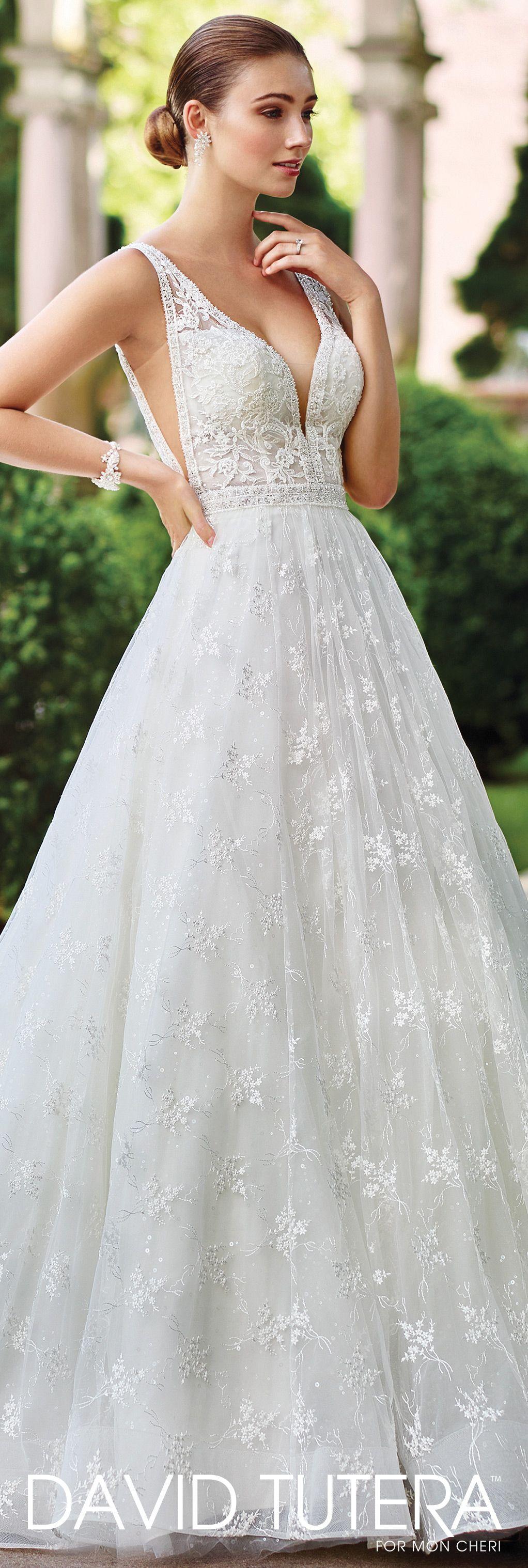 Sleeveless A-Line Gown Wedding Dress- 117271 Jin- David Tutera ...