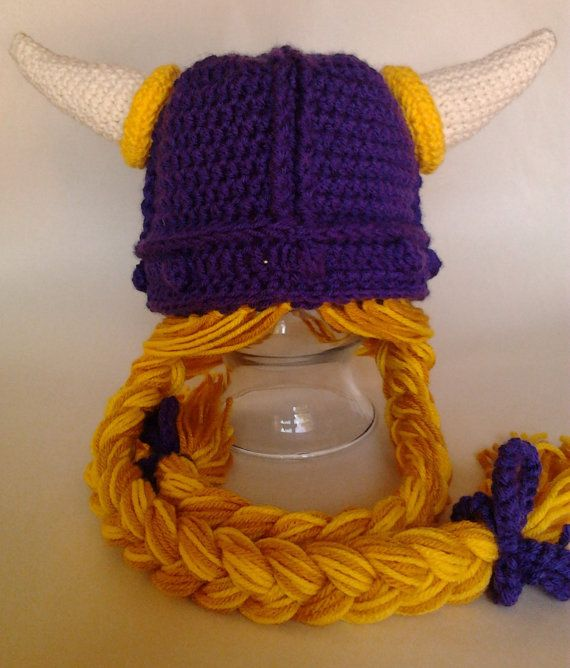 Rapunzel style viking hat. Created in the colors of the Minnesota ...