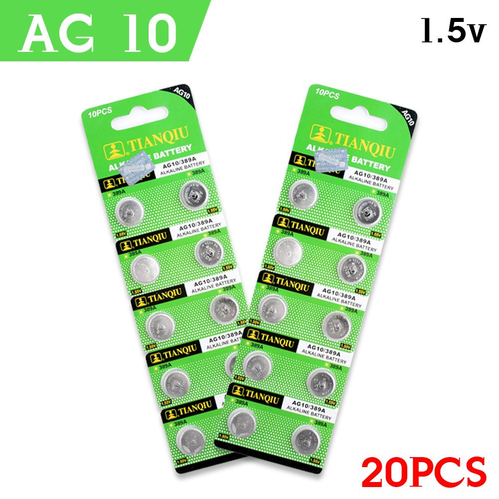 Knoopcel Lr1130 Ag10 High Power Fast Selling Watch Remote Cells 20pcs 1 55v