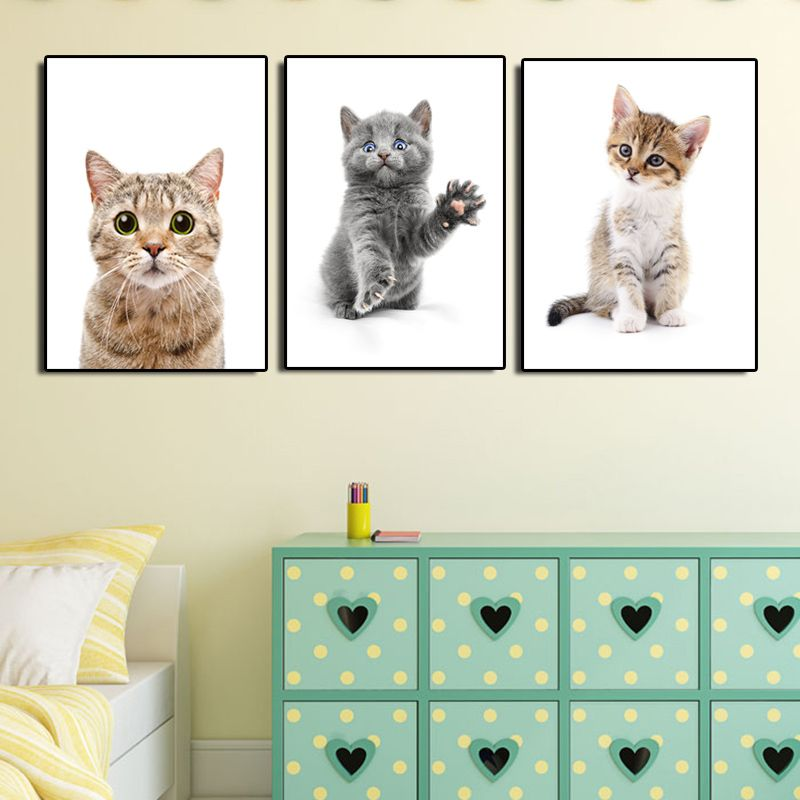 cat print,kitty cartoon,baby kids wall art,shower,bathroom,girl boy nursery