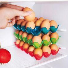 Saingace Egg Holder Box Refrigerator Storage Tray for 15pcs Eggs Shatter-proof  Storage Trays U6818(China (Mainland))