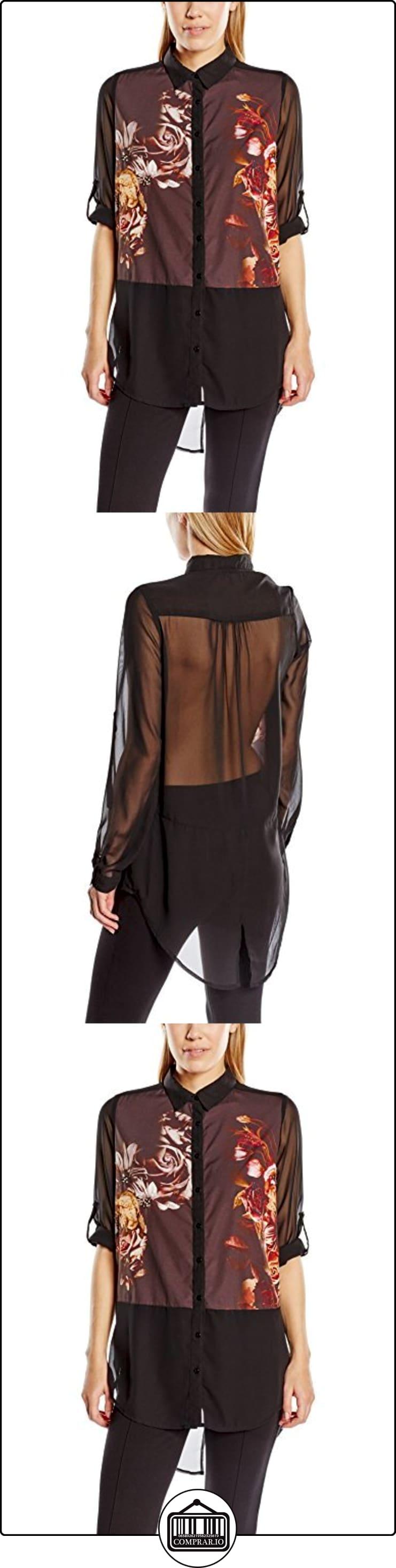 Derhy W420067-camisa Mujer    negro 40  ✿ Blusas y camisas ✿