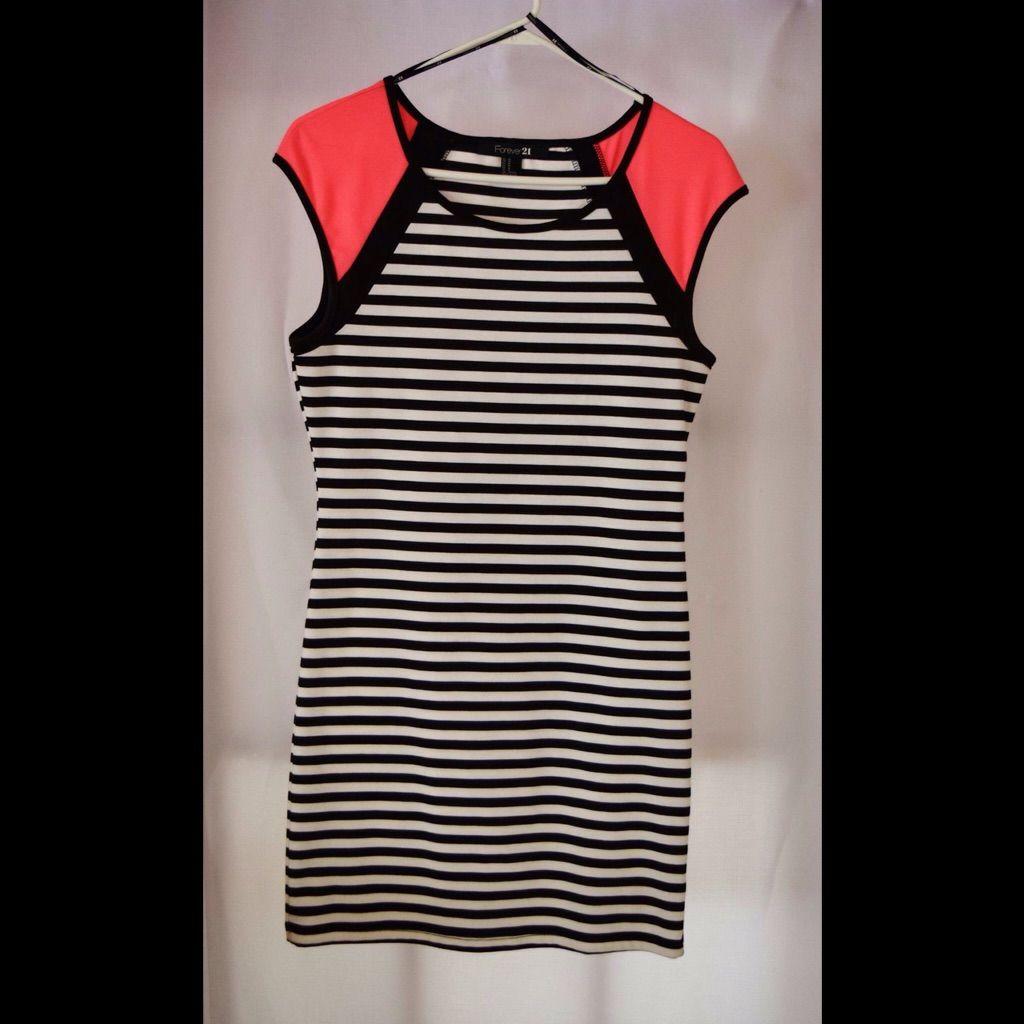Black and white striped bodycon dress no background kookai